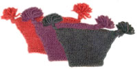 handknit kids hats