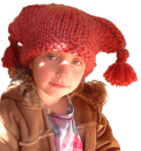 kids handknit hats