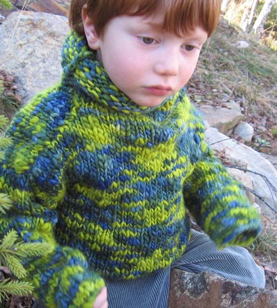 handknit childrens sweater